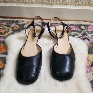 Taryn Rose Black Leather Heels